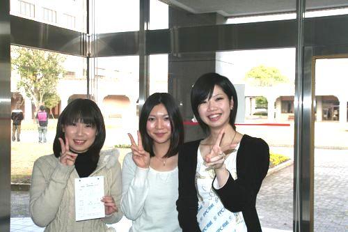 左から、船水さん、古庄さん、近藤さん(四方ゼミ)