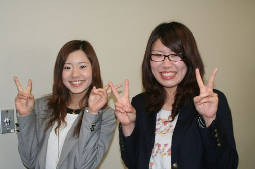 福留さん(左)、花堂さん(右)、ご協力ありがとうございました!