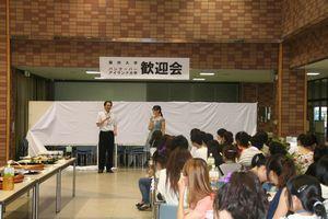 田中国際交流部会長による挨拶です。