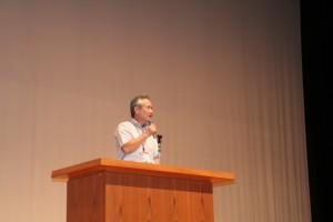中山学部長。今回も素敵な声で高校生を魅了します。
