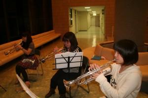 こちらは部活動。吹奏楽部です
