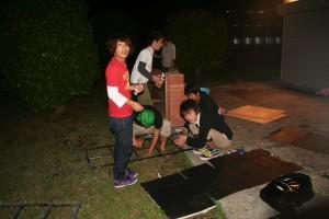 凌雲祭実行委員会 屋内局のお化け屋敷づくり