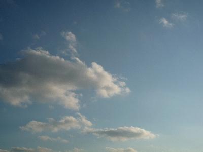 夕暮れ前の雲。