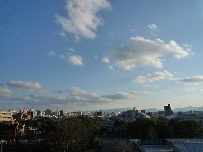 空の青い1日が終わりそうです。