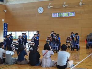 幼稚園の園児の皆さんによる太鼓の演奏!