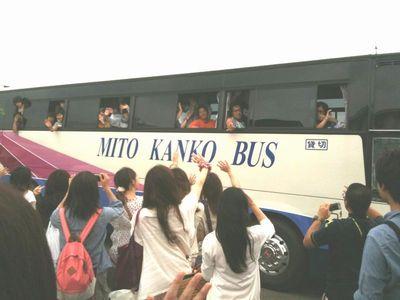 まさに「さよならバス」。