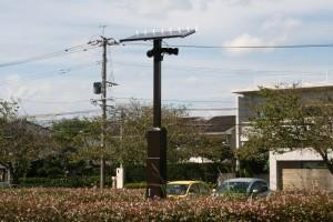 駐車場のLEDソーラー街灯