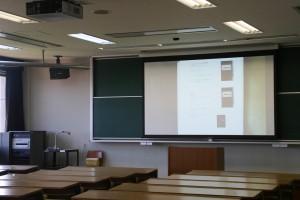 501中講義室に視聴覚機器新設