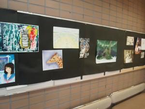 アートの数々!美術部の作品展示