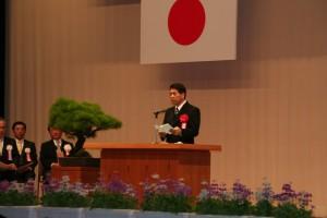 戸敷宮崎市長からも祝辞をいただきました。