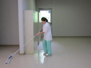 廊下の拭き掃除!