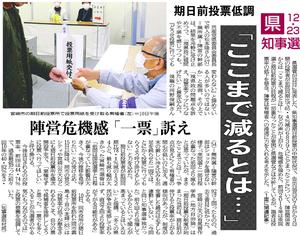 県知事選12・23(有馬学長コメント)20181211宮日.png